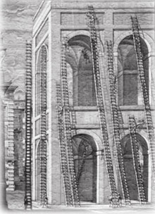 Guttierez Ladders Etching